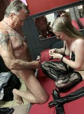 Busty redlight district hooker screwed in lace pattern stockings