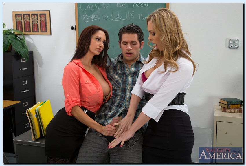 Off-the-chart  teacher get 3some with students love fuck