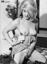 Stockinged and hairy vintage hotties captured in black-n-white