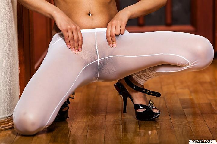 Footless stockings erotic