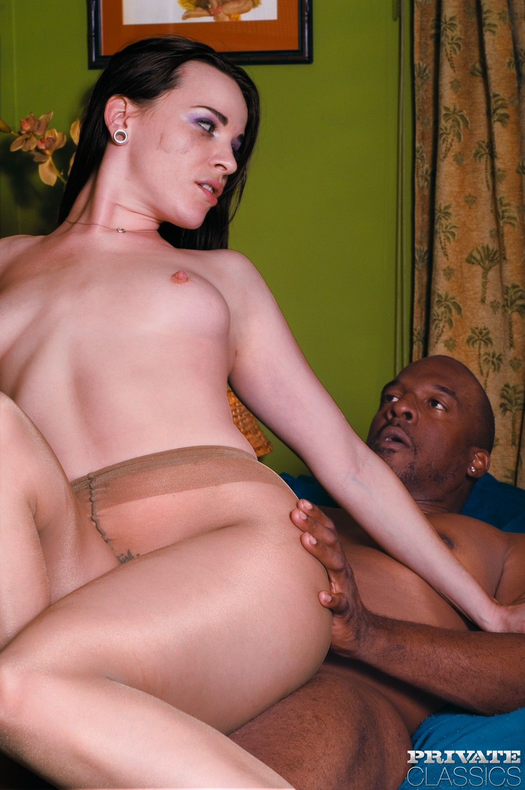 Interracial pantyhose sex