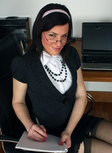 Redhead secretary seduction