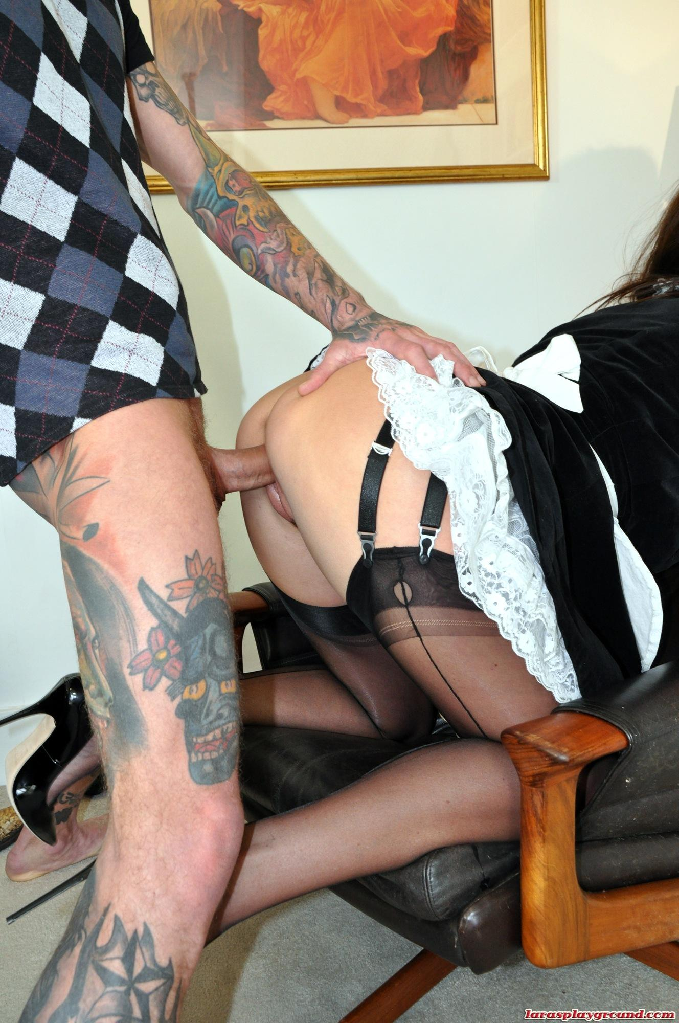 Sexy blonde maid fucked by client - 3 3