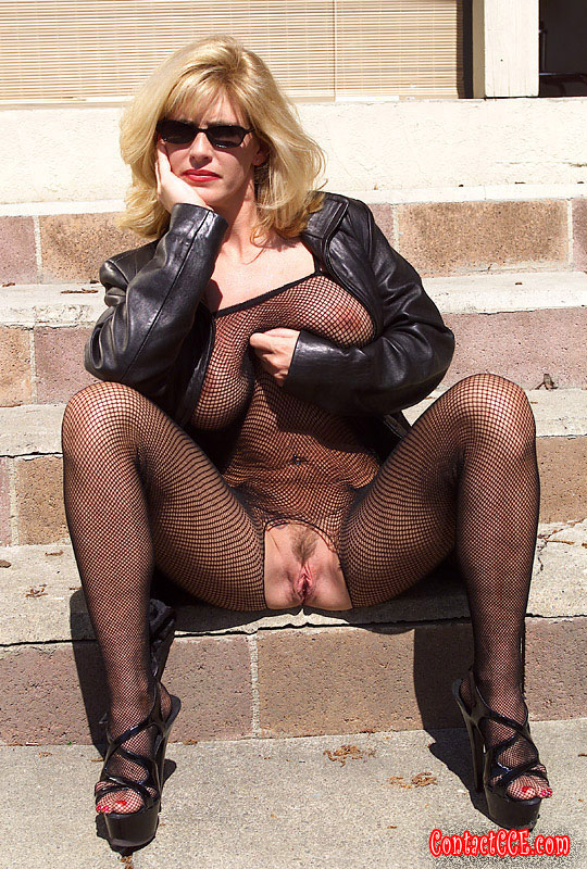 Milf in body stockings