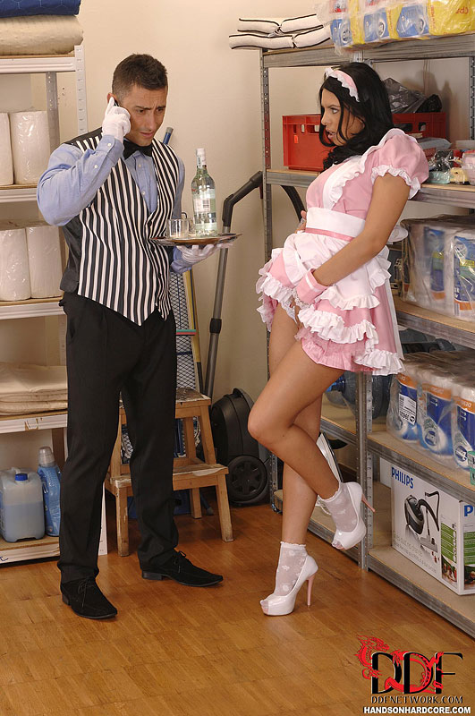 Naked girls maid in hotel