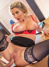 British milf Sienna Day fucks her boss in the office