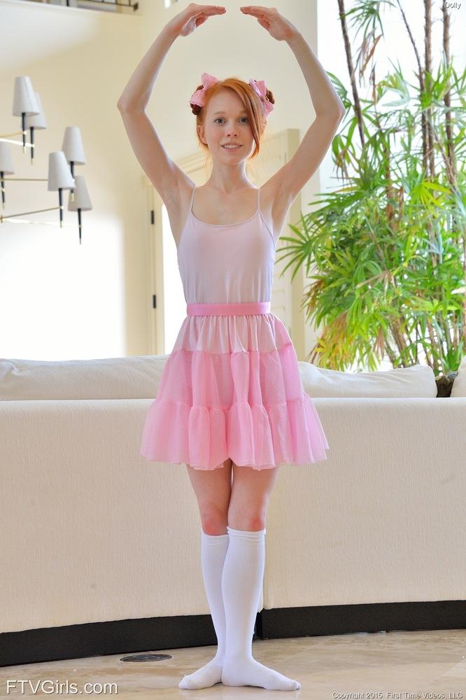 Redhead ballet dancer