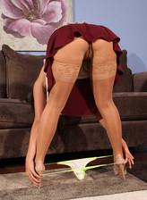 Between her thighs upskirt videos