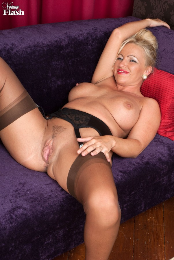 Uniformed sex in stockings a garter and heels 8