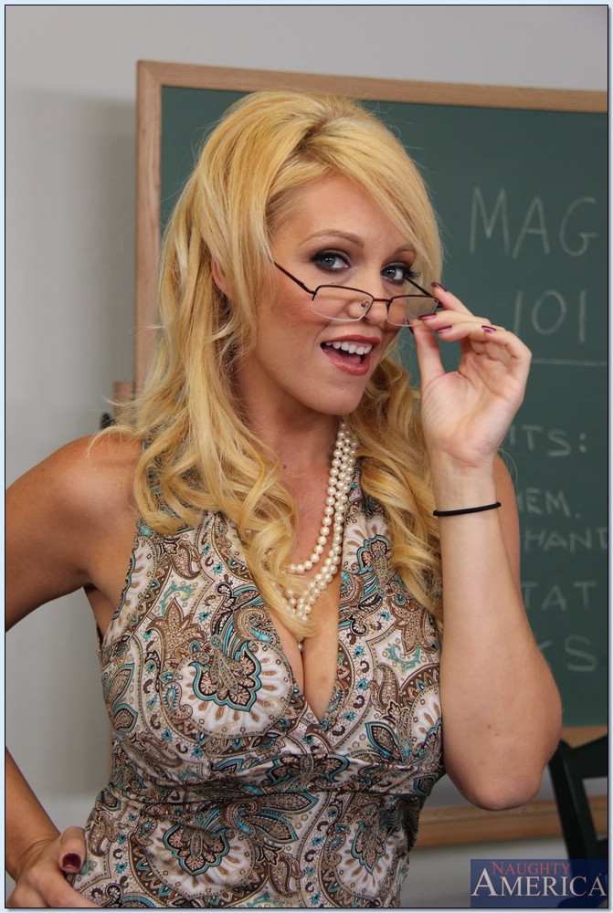 Hot blonde teacher sex situation