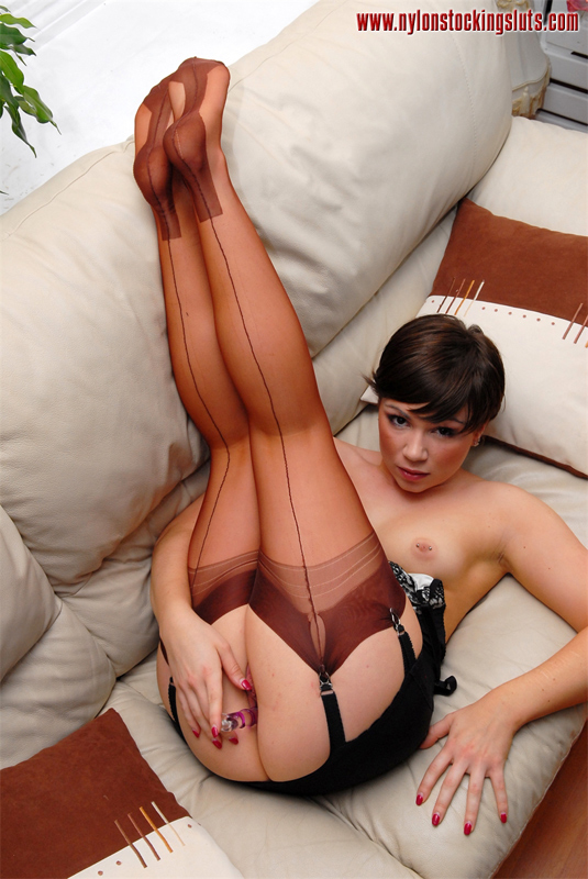 Nylon stocking sluts