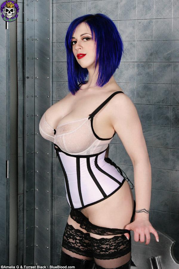 Big breasted goth