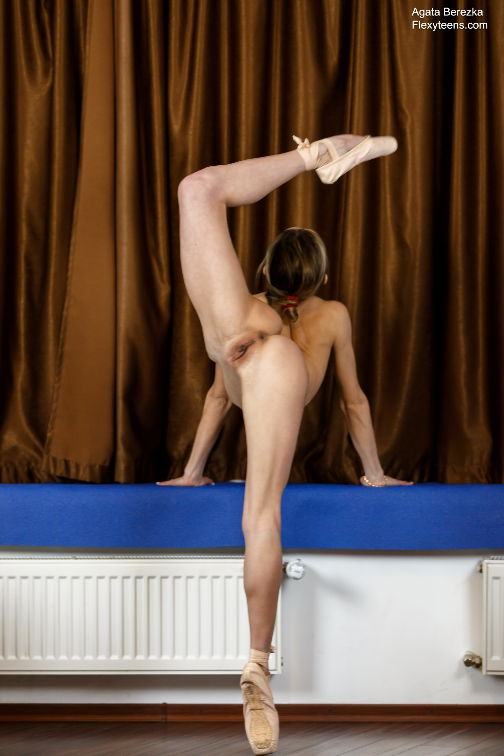Naked teen gymnast shows erotic workout - 3 part 8