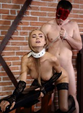 Obedient slave Nancy gets off from the sweet torture of her bondage master