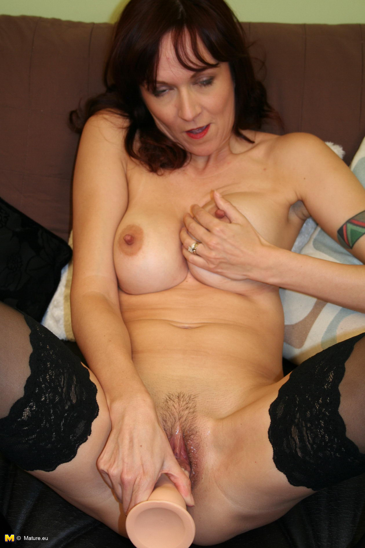Mom toying with her wet pussy 2