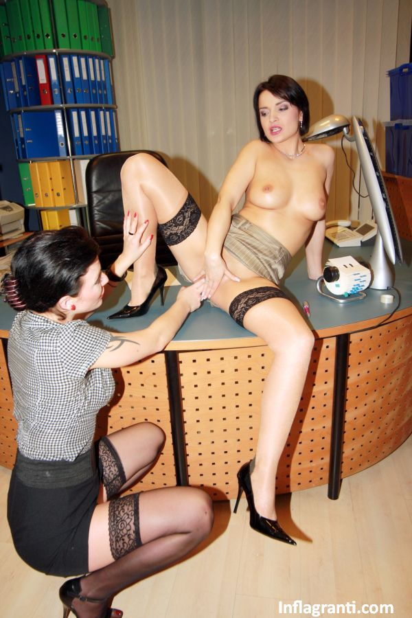 Vintage lesbians play with a long double ended dildo - 2 part 10