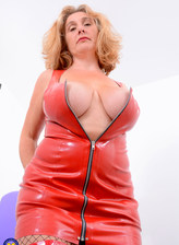British big breasted milf Camilla C. loves to play alone