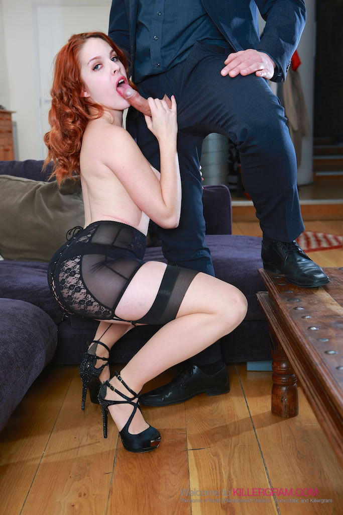 Amarna miller sexy redhead loves a creampie in her pussy - 1 part 7
