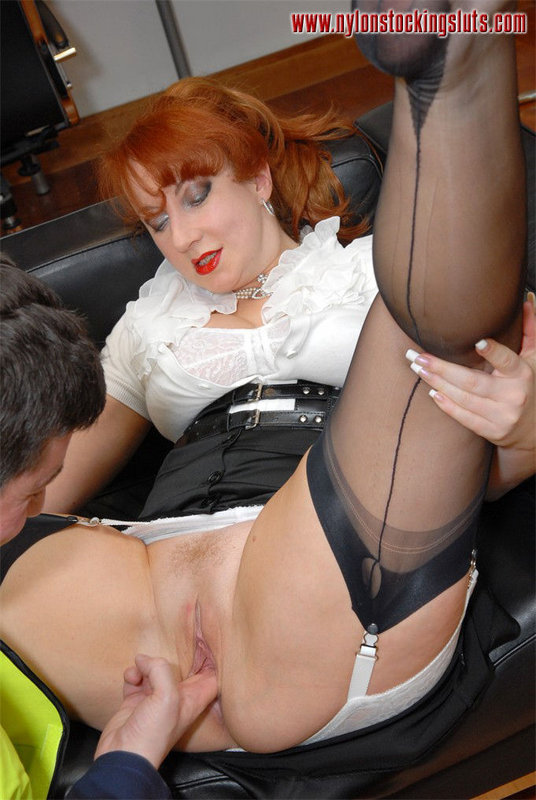 stocking slut red British