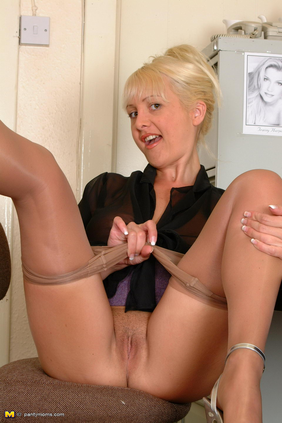 Mature erotic nylons right! seems
