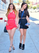 Brit Stella Cox and her US friend Lana Rhoades flash and