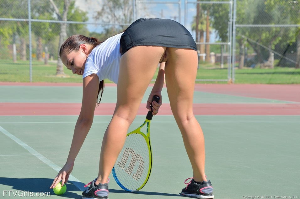 Girls with slip pussy Tennis hot