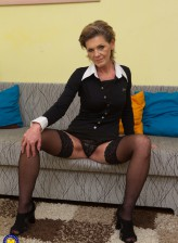 Naughty mature lady Irenka S. playing with herself