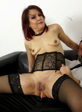 Leanne Morehead dons her lacy nylons and girdle to get ass ravaged as a sub slut