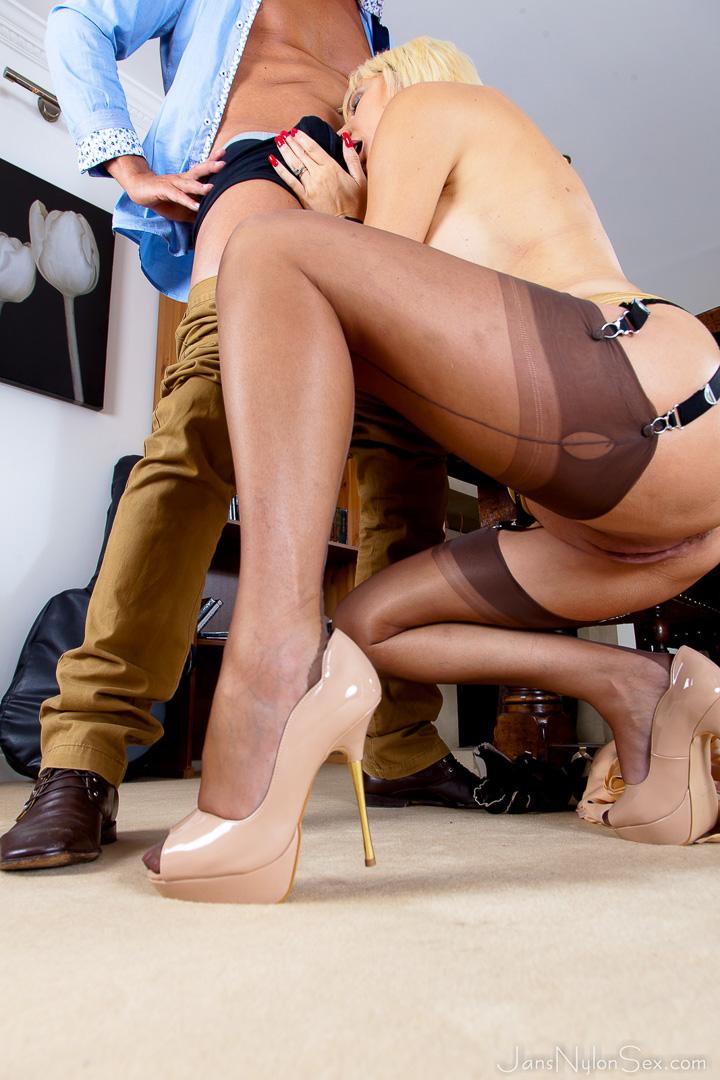 in leg sexy silk stocking