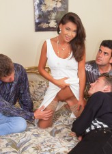 Horny rich retro widow Zana Sun gets gangbanged and DPed in her sheer holdups