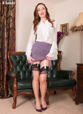 Smart PA Sophia Smith loves retro chic with a flowery set & contrast seam nylons
