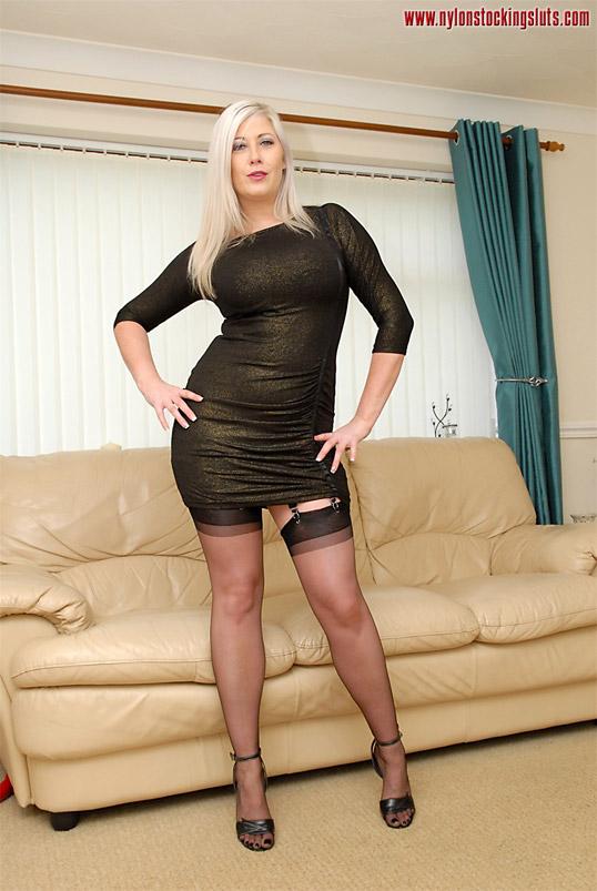 sluts stocking British nylon