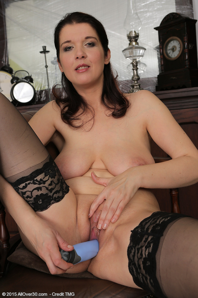 image Horny brunette get dp and fucked on