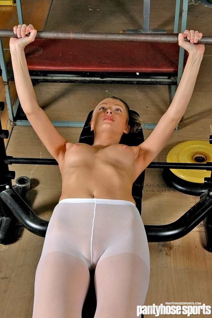 In pantyhose having sports