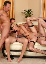 Cock hungry MILF Donna Bell gets all holes filled with 3 cocks