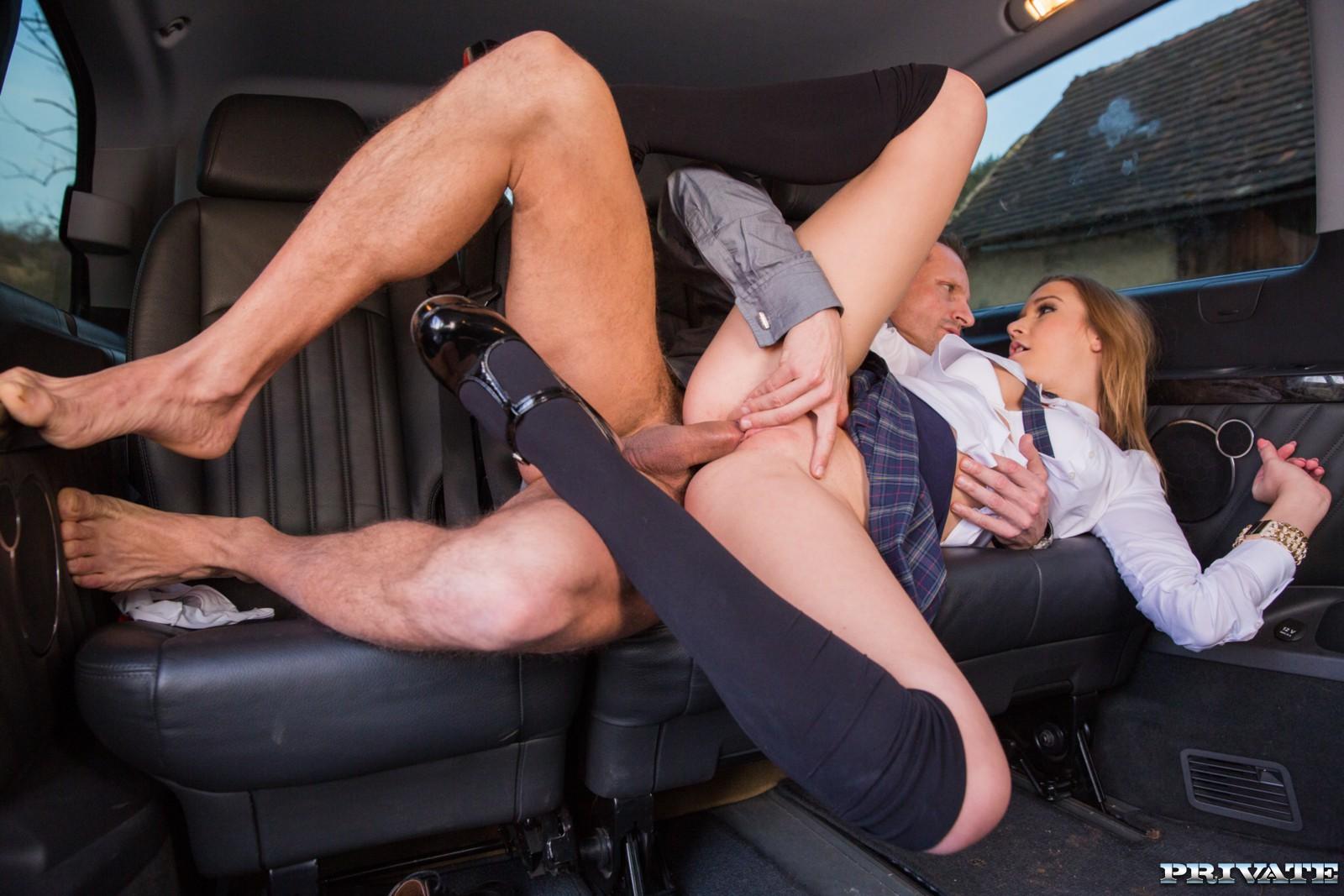 Stockings car sex pics