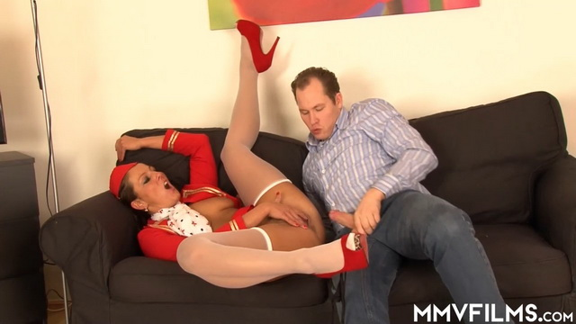 MMVFilms - Valentina Ross - Air Hostess Disguised