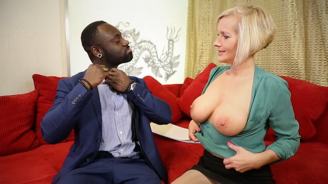 German MILF Leni Schroder enjoys getting cunt slammed by black cock
