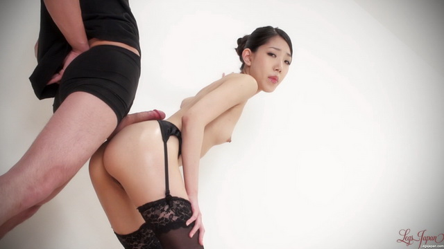 Legs Japan - Rio Kamimoto - Buttjob in Garter