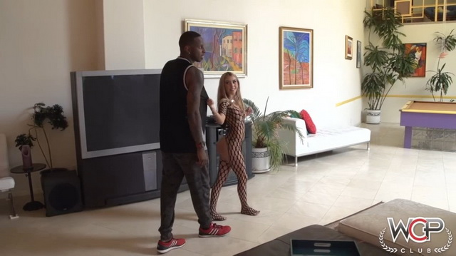 Petite US blonde Kat Dior assfucked by a big black cock
