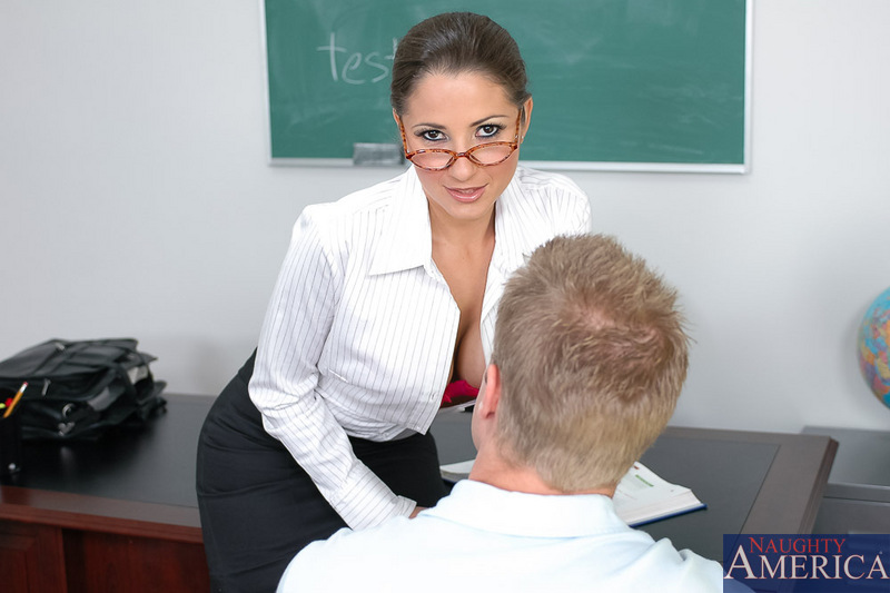 Teacher of the year Baby Jayne gets laid by a student in her black lacy holdups