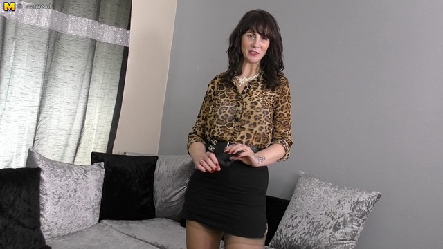 British housewife Toni Lace playing with herself