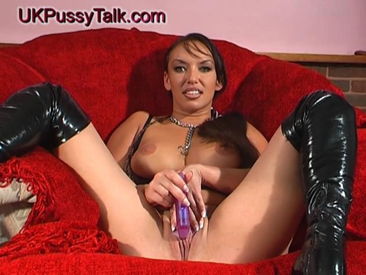Bigtitted UK porn babe Keira Pharrell does a sex interview with toys in her raunchy thigh high boots