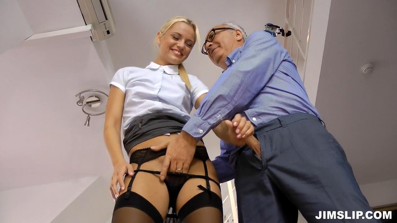 stockings Horny secretary
