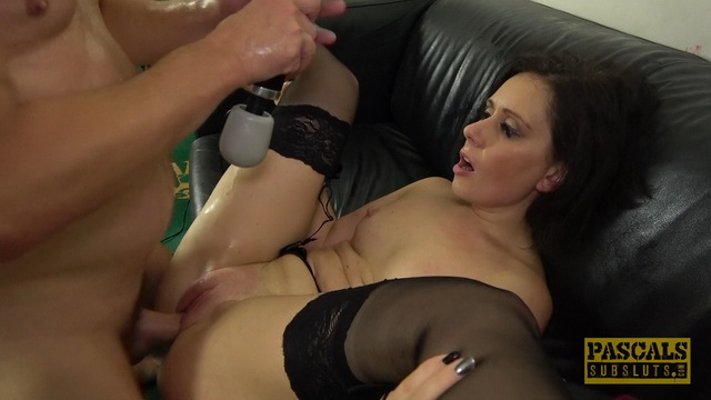 Belle O'Hara suspended, spanked, deepthroated & pounded raw in nylons & garters