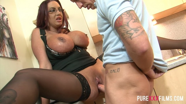 British big tits milf Emma Butt gets fucked by stepson