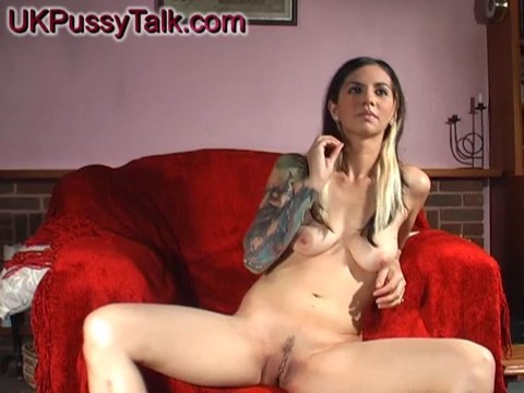 Punky fetish model Holly Dee aka Holly D gets out of her panties to spread legs