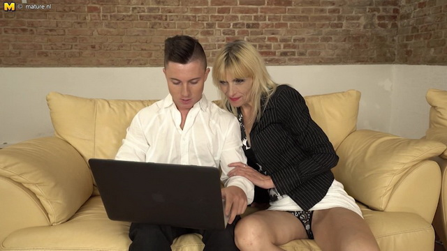 Horny housewife Vicky seducing her toyboy for sex