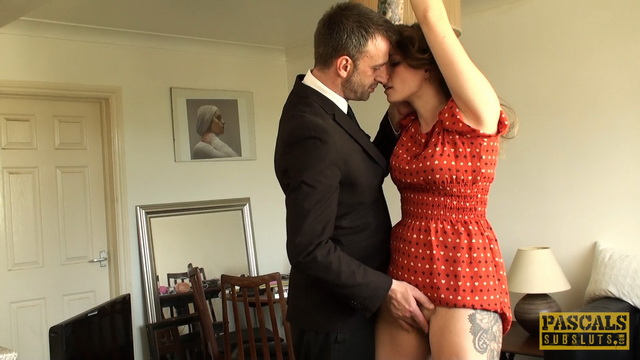 Submissive British gal Ava Austen gets suspended for abusive spanking and screwing in her high heels