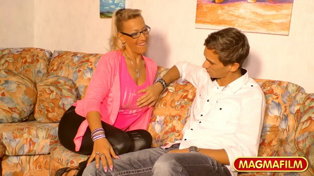 Busty German milf Lana Vegas loves young boys